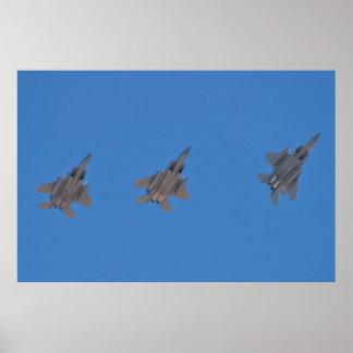 F-15s Returning Poster
