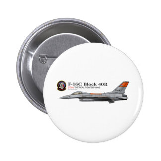 F-16 272nd Tactical Fighter Wing 6 Cm Round Badge