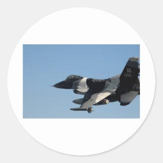 F-16 FALCON IN CAMO ROUND STICKER