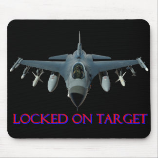 F-16 Falcon Locked on Target Mouse Pads