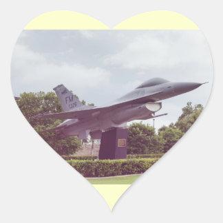 f-16 fighter heart sticker