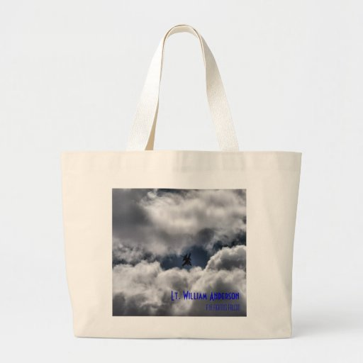 F-16 Fighting Falcon in the Cloudy Sky Bag