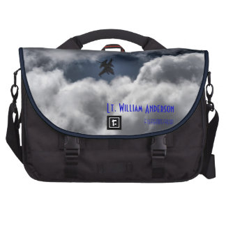 F-16 Fighting Falcon in the Cloudy Sky Computer Bag