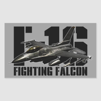 F-16 Fighting Falcon Rectangle Stickers
