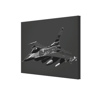 F-16 Fighting Falcon Stretched Canvas Prints