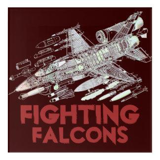 F-16 Fighting Falcons Acrylic Wall Art