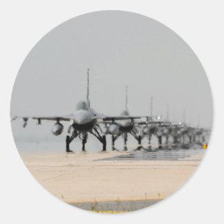 F-16 THUNDER ROUND STICKER