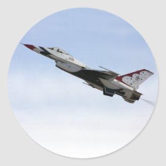 F-16 Thunderbird In Flight Classic Round Sticker