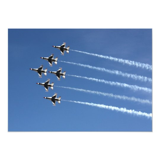 F-16 Thunderbirds Delta Formation Card