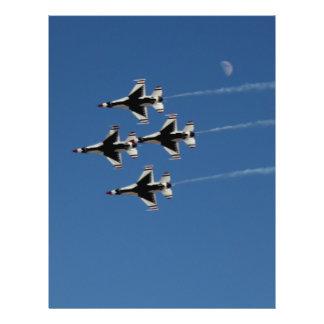 F-16 Thunderbirds Diamond  Formation 21.5 Cm X 28 Cm Flyer