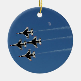 F-16 Thunderbirds Diamond  Formation Christmas Ornament