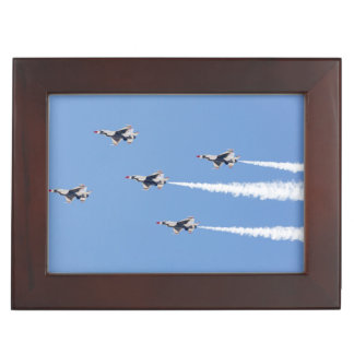 F-16 Thunderbirds flying the five-card formation Keepsake Box