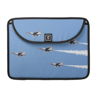 F-16 Thunderbirds flying the five-card formation Sleeve For MacBooks
