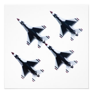 F-16 Thunderbirds - Four in Formation Personalized Invitations