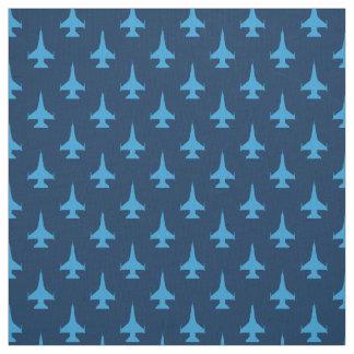F-16 Viper Fighter Jet Pattern Blue Fabric