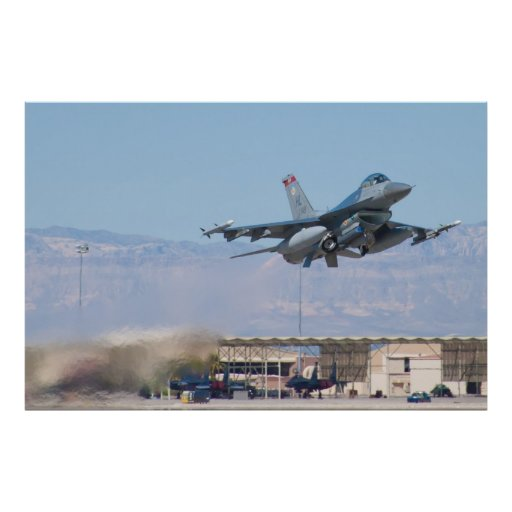 F-16C Fighting Falcon HL AF 89 149 Take Off Poster