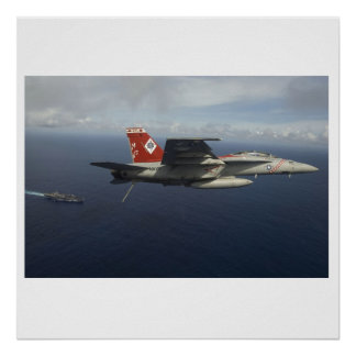 F-18 F Super Hornet VFA-102 Poster