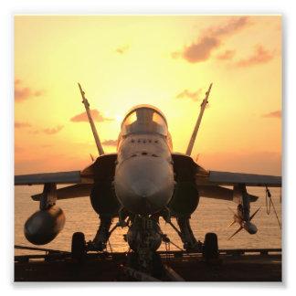 F-18 Hornet at sea aboard US Aircraft Carrier Photo Art