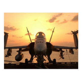 F-18 Hornet at sea aboard US Aircraft Carrier Postcards