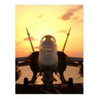 F-18 Hornet at sea aboard US Aircraft Carrier Postcard