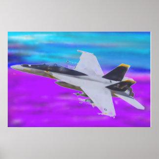 F-18 HORNET POSTER