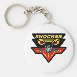 F-18 Hornet Shocker Basic Round Button Key Ring
