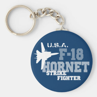 F-18 Hornet - Strike Fighter Basic Round Button Key Ring