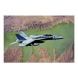 F-18 over Afghanistan. Poster