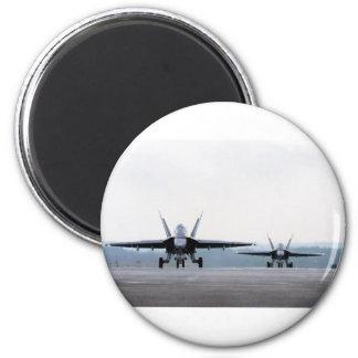 F-18 Super Hornet 6 Cm Round Magnet