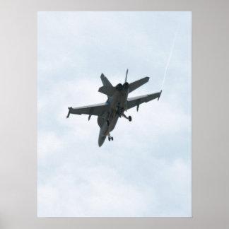 F-18 Super Hornet lands at NAS Oceana, VA. Poster