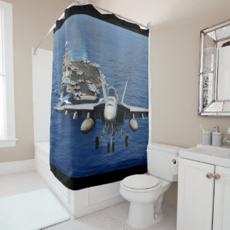 f-18 takeoff shower curtain