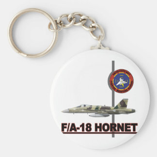 F-18 Top Gun Basic Round Button Key Ring