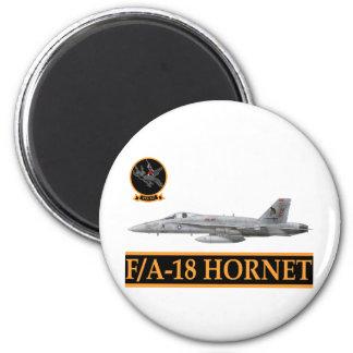 F-18 with VFA-147 ARGONAUTS Squadron 6 Cm Round Magnet