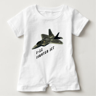 F-22 Fighter Jet, Raptor Baby Bodysuit