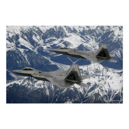 F-22 Raptor Flight Poster