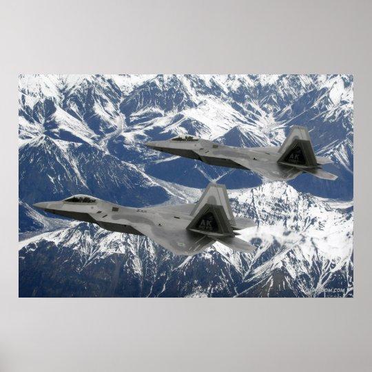 F-22 Raptor Flight Poster