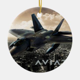 F-22 Raptor Jet Fighter Christmas Ornament