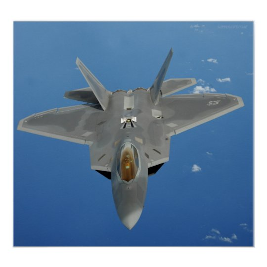 F-22 Raptor over Pacific Poster