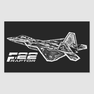 F-22 RAPTOR Rectangle Stickers
