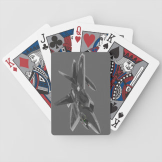 F 22 Raptor Stealthy Fighter Aircraft Bicycle Playing Cards