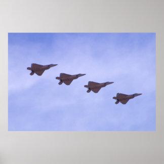 F-22 Raptors Returning Poster
