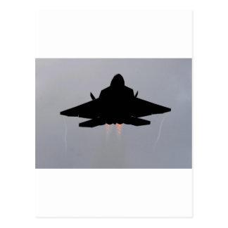 f-22 stealth fighter postcard