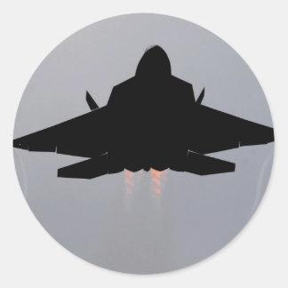 F-22 STEALTH FIGHTER ROUND STICKER