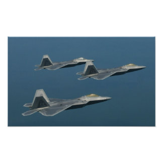 F-22A Raptor Aircraft Poster