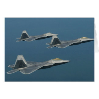 F-22A Raptor Aircraft Poster Card