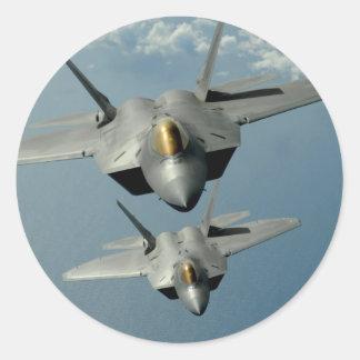 F-22A Raptor Classic Round Sticker
