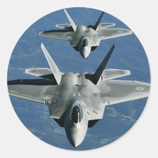 F-22a_Raptors Round Sticker