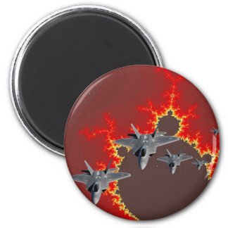 F-22's  FROM OUTER SPACE Refrigerator Magnet