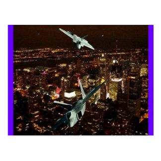 F-22's  'SCISSOR MANEUVER' Postcard