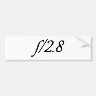 f/2.8 bumper sticker